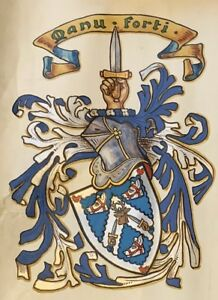 Scottish-Grant-of-Arms-1901-with-other-documents-Mackay-Family