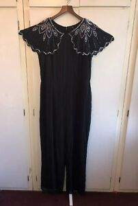 cca1a3134c8 Image is loading JD-Williams-Joanna-Hope-Black-Arm-Embellished-Beaded-