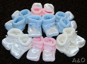 74 Erstlingssocken Schleife Weiß Taufe Umschlagsocken Socken Baby Söckchen 68