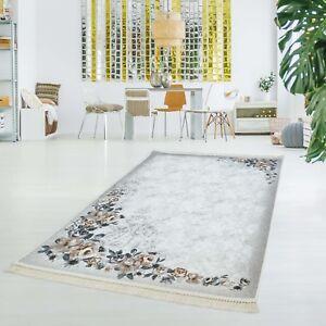 Details zu Druckteppich Waschbar Teppich Küche Rose Rosen Flachflor Dünn  Polyester 130x200