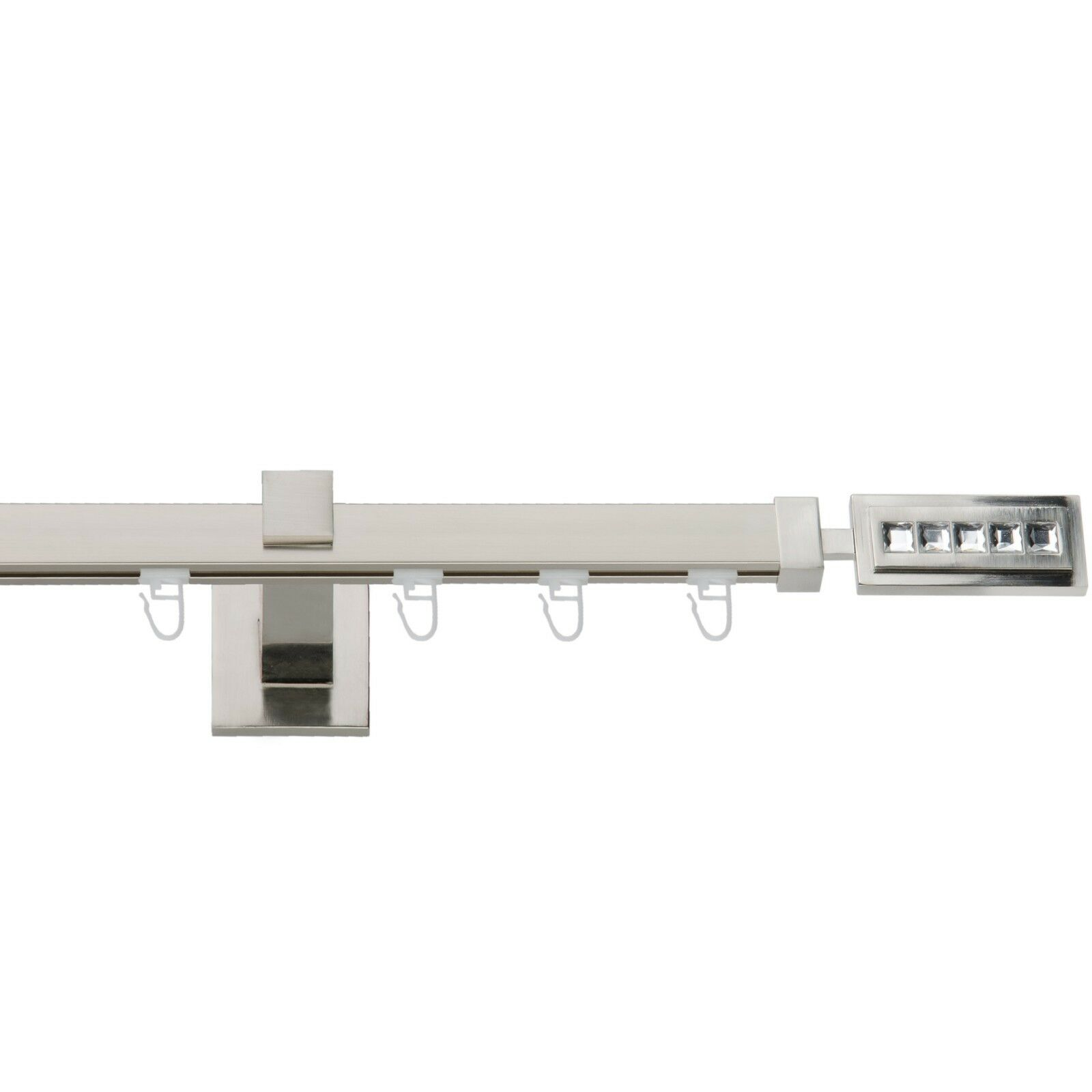Gardinenstange Quadrat Innenlauf 20 20mm 20mm 20mm Edelstahllook,1 2-läufig, Topqualität  | Hohe Qualität und günstig  770380