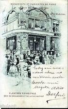 POSTAL FRANCIA - PARIS - 1900 - MONUMENTOS - BOULEVARD DE LA MADELEIN - MBC