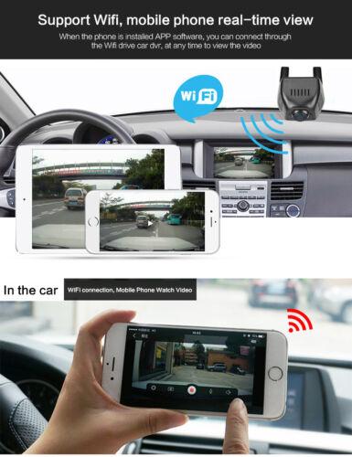 HD 1080P Hidden Mini Wifi Dual Lens Car DVR Camera Video Recorder Night Vision
