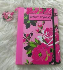 BETSEY JOHNSON RED/PINK TEXTURED ROSE JOURNAL NOTEBOOK NEW
