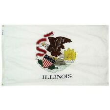 State of Illinois 4x6 Foot Flag Banner (150D Super Polyester)