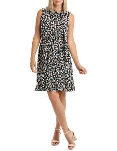 NEW-Leona-by-Leona-Edmiston-Black-Falling-Daisy-Side-Tie-Dress-Assorted