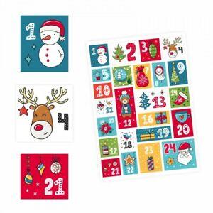 24-Adventskalender-Zahlen-Aufkleber-bunt-eckig-Sticker-Weihnachten-basteln