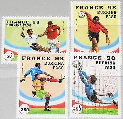 Briefmarken Angemessen Burkina Faso 1996 1427-30 1074-77 Soccer World Cup France 1998 Sport Fußball Mnh Ausreichende Versorgung