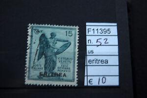 FRANCOBOLLI-ITALIA-COLONIE-ERITREA-USATI-N-52-F11395