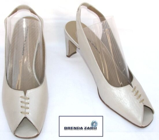 BRENDA ZARO - LEATHER SHOES BEIGE 40 - MINT