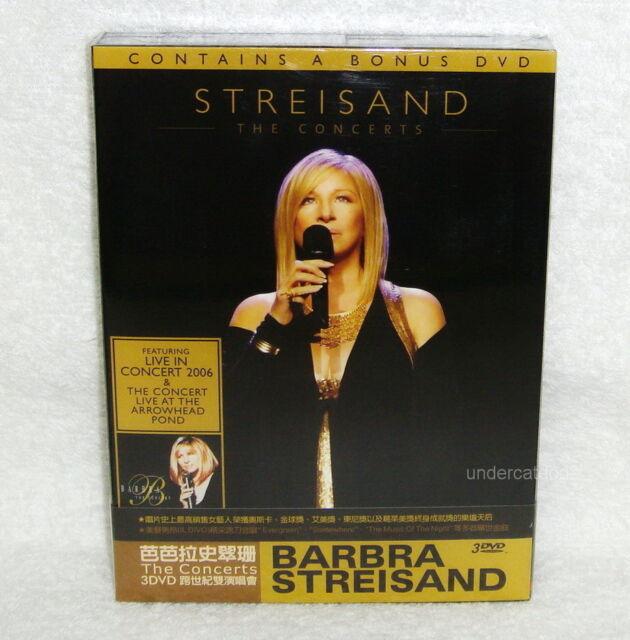Barbra Streisand los conciertos Taiwan Ltd 3-DVD Caja Nuevo
