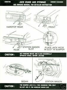 1972-DODGE-CHARGER-RT-CORONET-JACK-INSTRUCTION-DECAL