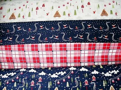 Christmas fat quarter bundle Xmas fabric bundle Christmas Robin Fabric,