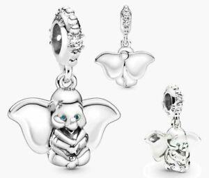 Genuine Pandora Disney Dumbo Elephant Pendant Charm Silver S925 Ale 797849cz New