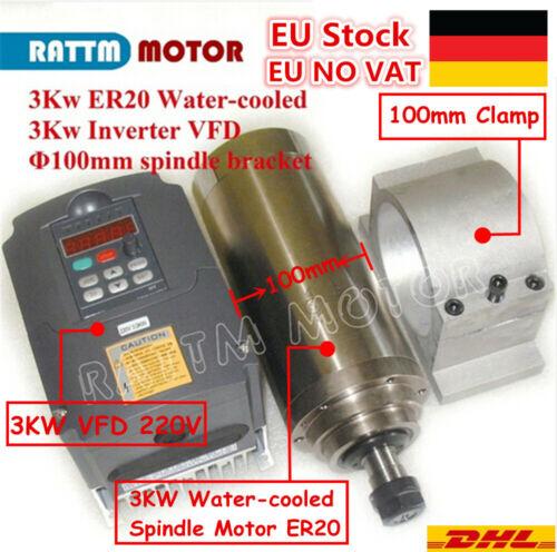 Clamp 3kw VFD Frequency Inverter De : CNC 3KW 220V WATER COOLED SPINDLE MOTOR MILLING