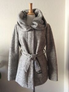 Front Belted Road M Lysegrå Oversized Tinley Coat Zip Collar Sz f6wFnxX