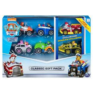 Paw-Patrol-True-Metal-Classic-Gift-Pack-of-6-Collectible-Die-Cast-Vehicles-NEW