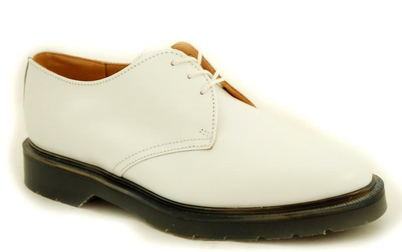 Solovair NPS Shoes Made in England White 3 Eye Off White England Shoe S018-L3995WHT 76dea0