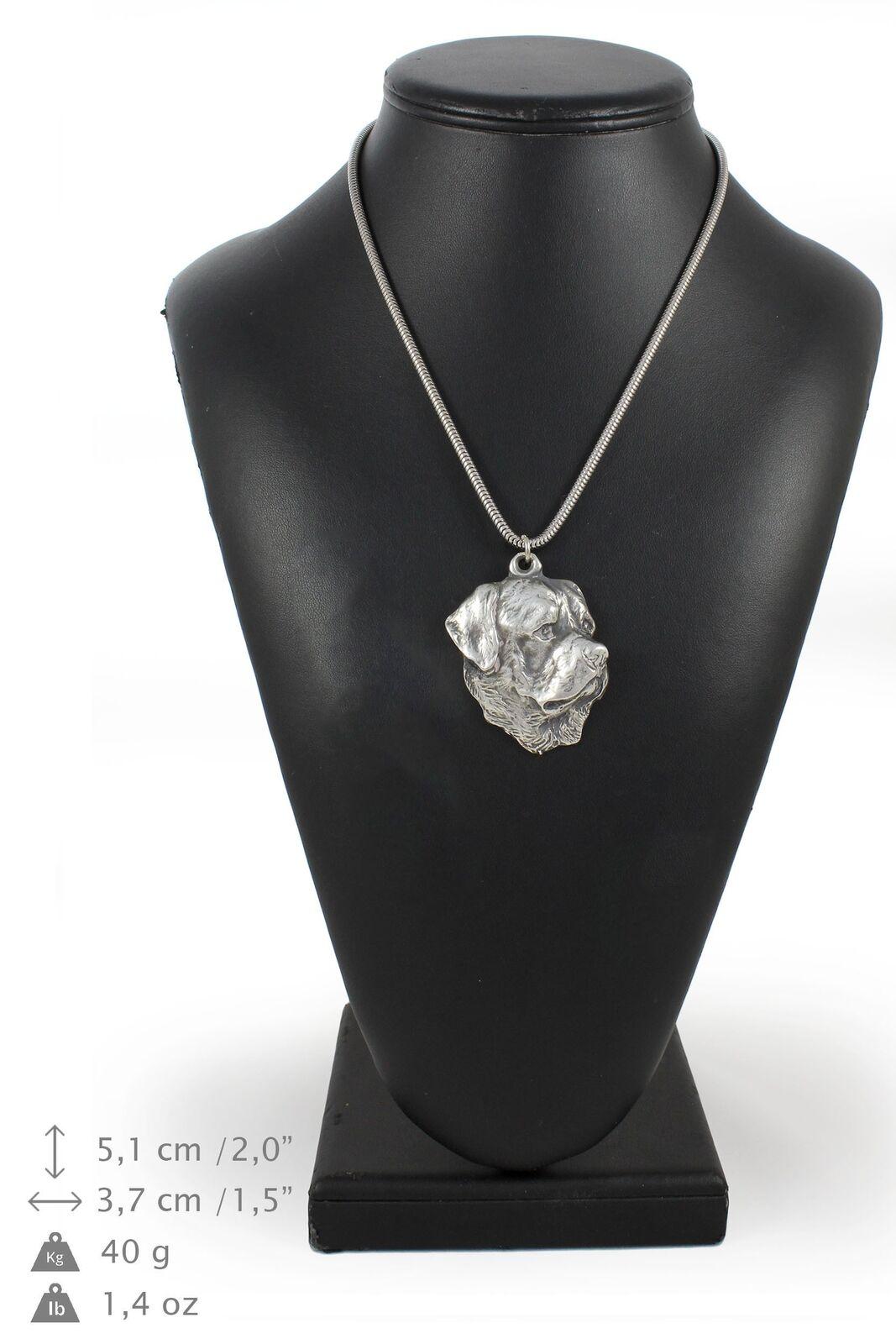 rossotweiler - collier en argento plaqué sur une chaîne en argento Art Dog FR