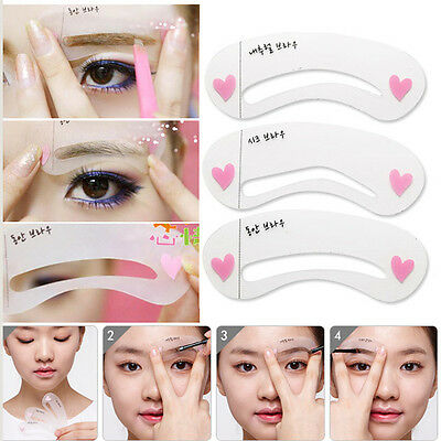 Magic Eye Brow Class Drawing Guide Eyebrow Stencil Card Template Helper 3 Style