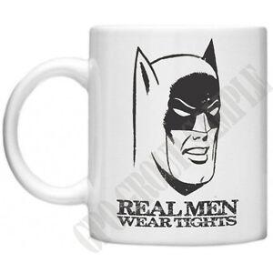 01b5f7ecf Batman Real Men Wear Tights Funny Mug Comics Mug Gifts Movie Retro ...