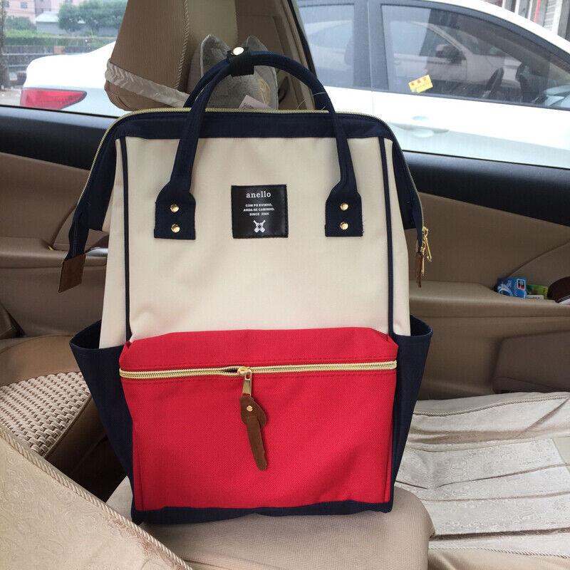 Japan Anello Original Backpack Rucksack Unisex Canvas School Bag Bookbag Handbag 5
