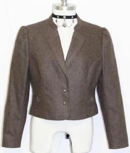 Jacket uldjakke Loden Kort Riding Dirndl Brown B38 Østrig Short Dress Riding Dirndl Wool B38 Kvinder Austria Brun Women Boiled Kjole Kogt Loden twgOqdxw