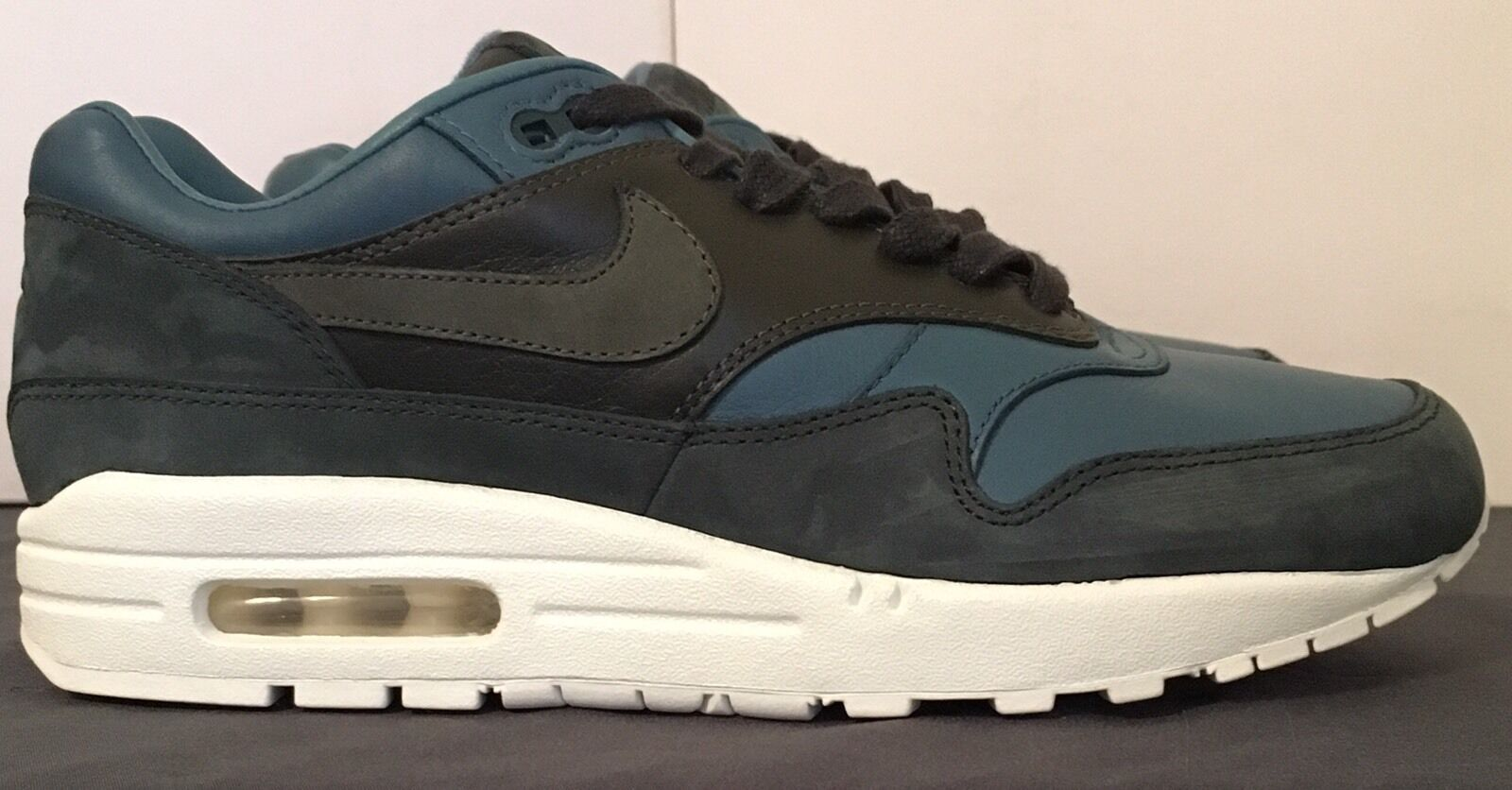 SZ.8 NIKE MENS Nikelab Air Max 1 Pinnacle 855554  -300 Iced Jade  Teal  negozio di moda in vendita
