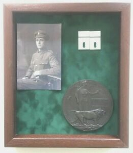 Large-Display-Case-For-WW1-Plaque-Photo-and-Medals-PLEASE-READ-DESCRIPTION
