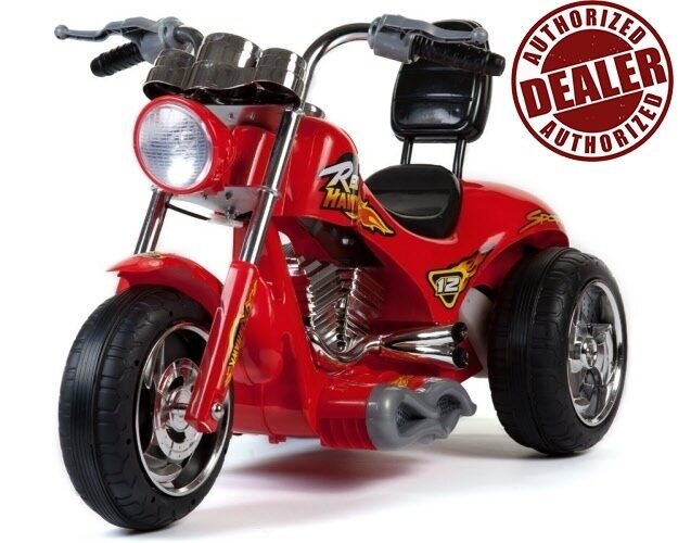 NEW -12V Battery Battery Battery Powered Kids Ride On Toy Chopper Motorcycle Car 3 Wheels - Red 3bd971