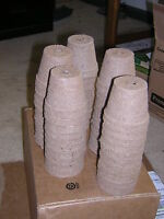 """50 - Biodegradable Peat Pots – 2 ¼"""" - Free Shipping - Great Seed Starters"""