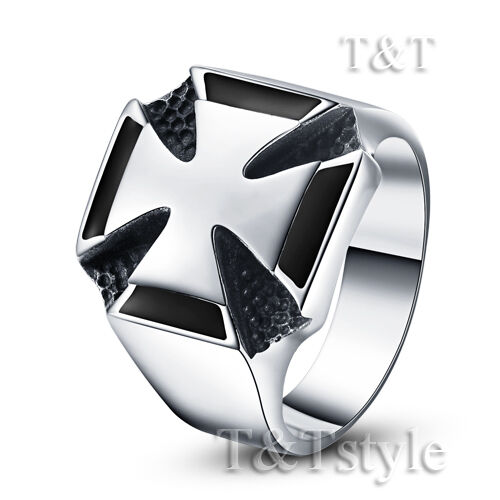 High Quality T/&T 316L Stainless Steel Cross Ring Size 12 RZ16
