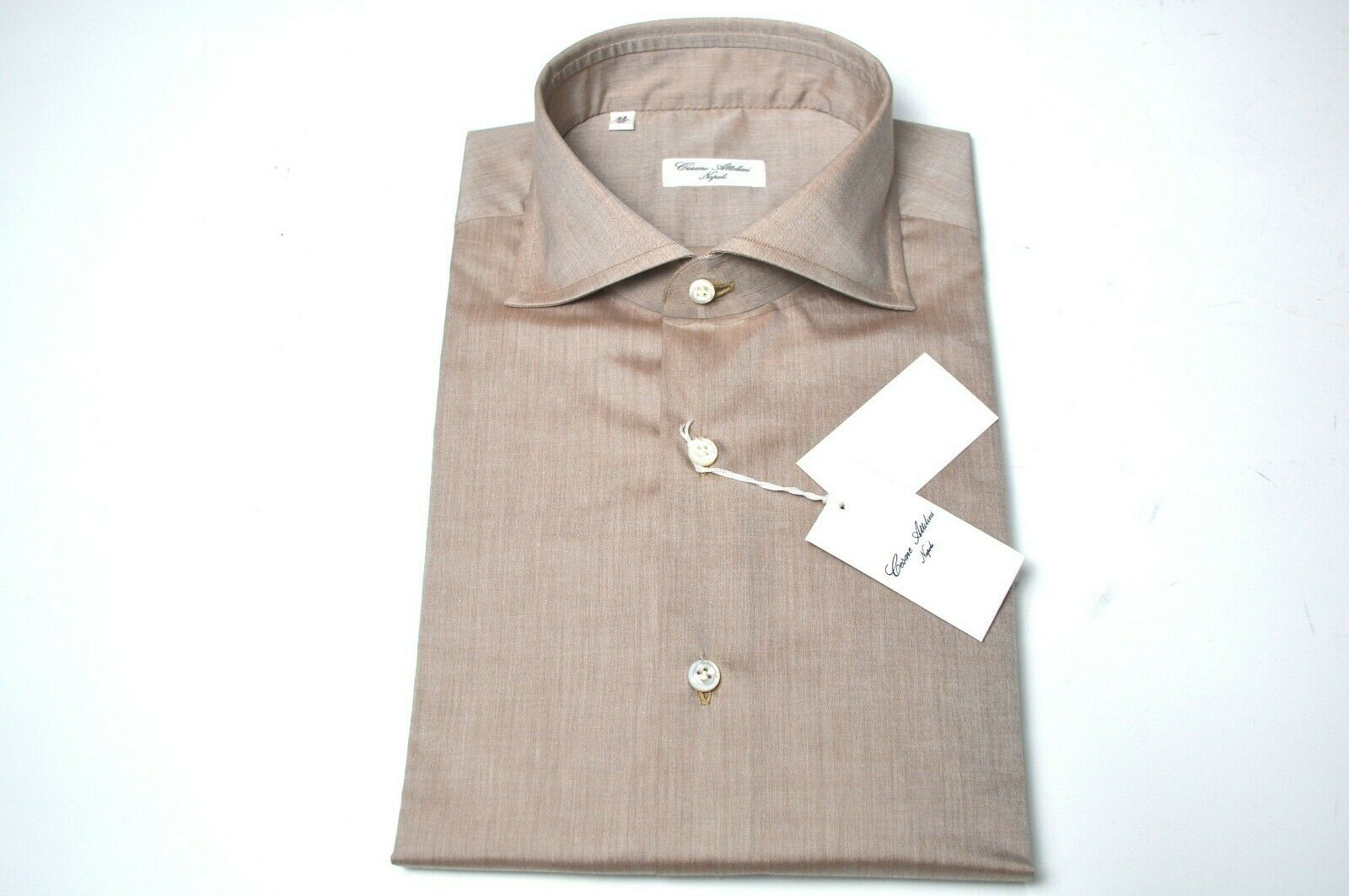 NEW CESARE ATTOLINI  Dress hemd  Größe 17 Us 43 Eu (Cod AT1)