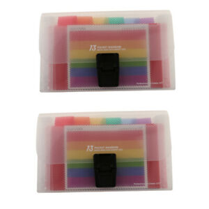 Portable A6 13-Pocket Expanding File Folders Organizer Travelling Daily Use