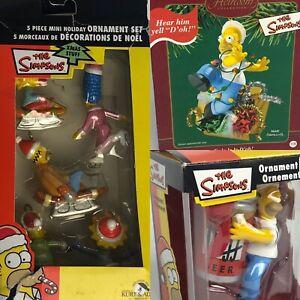 Lot-Of-Homer-Simpsons-Christmas-Ornaments-Holiday-Set-Marge-Lisa-Talking