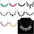 New Geometric Acrylic Enamel Pendant Bib Collar Choker Necklace Jewelry Fashion