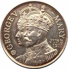 1911 King George V Coronation medal Borough of Lymington hallmarked 1910
