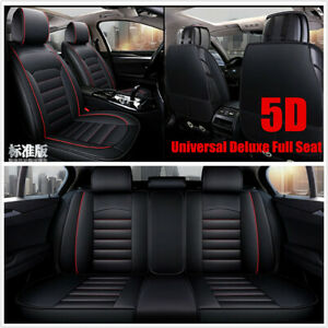 Luxury-Full-Seat-PU-Leather-Car-Seat-Cover-Cushion-Pad-5D-Surround-Breathable
