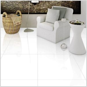 Details About 60x60 Extreme White Polished Porcelain Floor Tile Full Bod Rectified 20m2