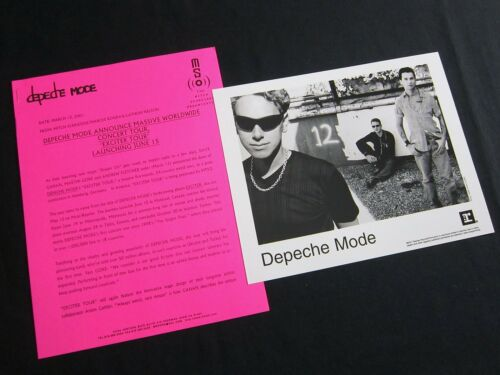 DEPECHE MODE 'EXCITER TOUR' 2001 PRESS KIT--PHOTO
