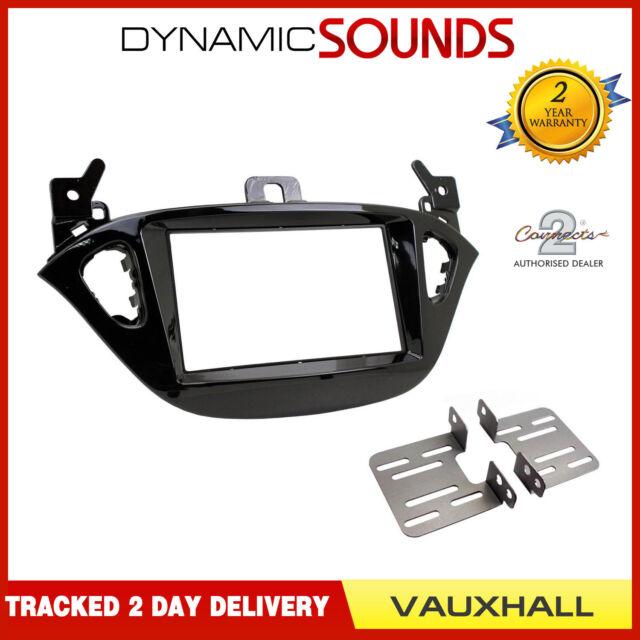 CT23VX48 Double Din Fascia Adaptor Piano Black For Vauxhall Adam 2013 onwards