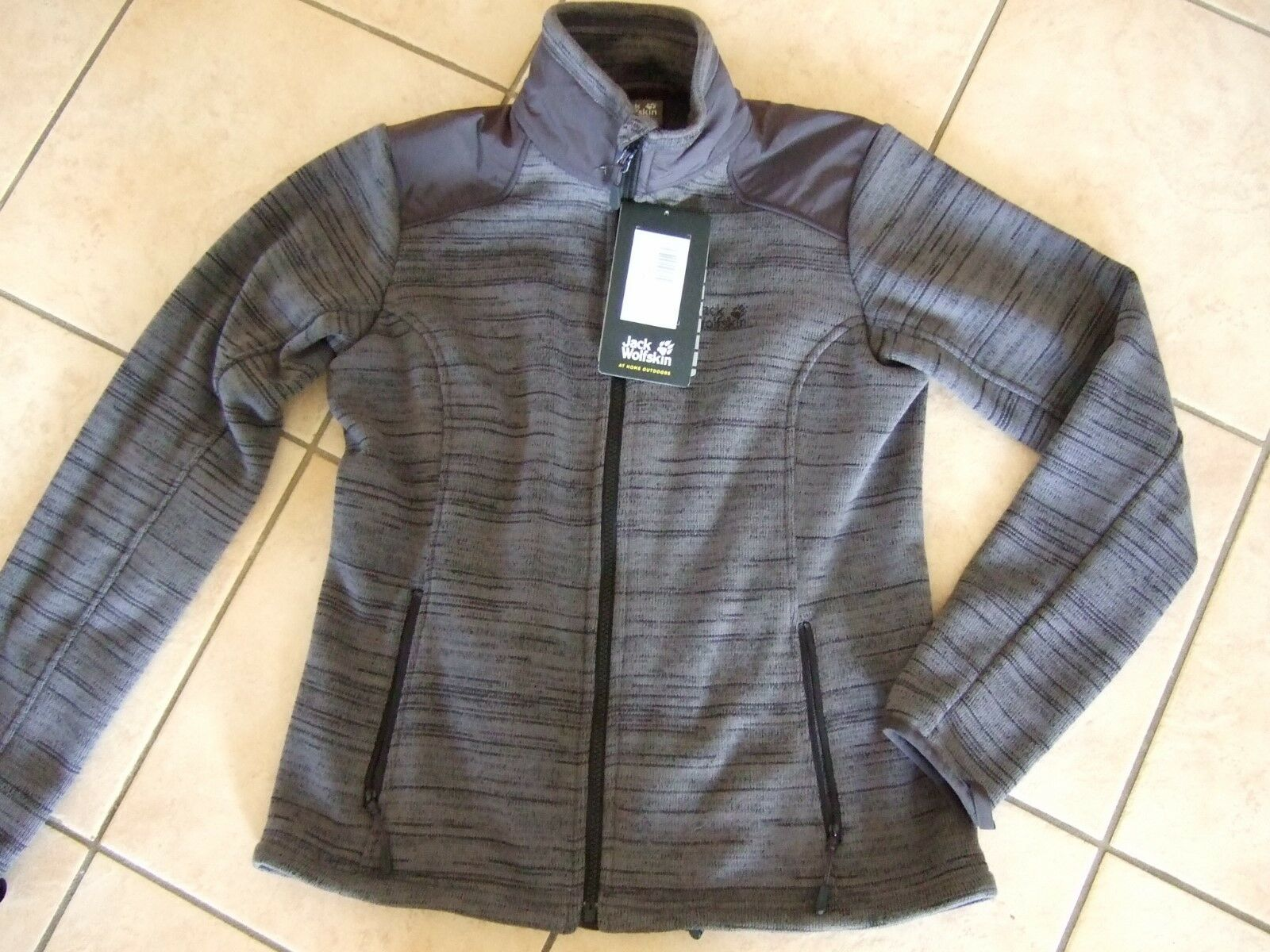 % Jack Wolfskin Aquila Jacket Fleece Damen dark iron Gr. M   99 99 %