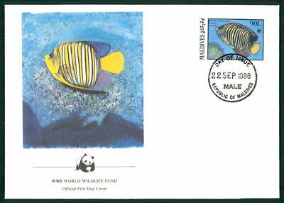 Freundschaftlich Malediven Schmuck-fdc 1986 Wwf Fauna Fische Fish Kaiserfisch Angelfish Em02