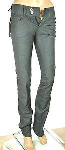 Pantaloni Donna Jeans MET Made in Italy C828 Gamba Dritta Grigio Tg 24