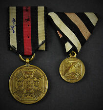 Kriegsdenkmünze 1870/71 für Kämpfer mit Miniatur