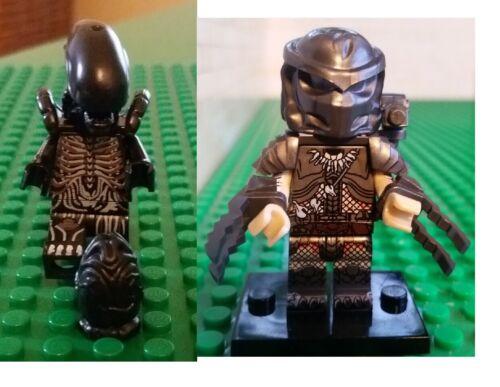 Alien Predator and Terminator AVP AVP2 alien minifigures brand compatible