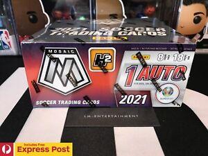 2021 PANINI MOSAIC UEFA EURO 2020 SOCCER FOOTBALL H2 HYBRID HOBBY BOX 144 CARDS