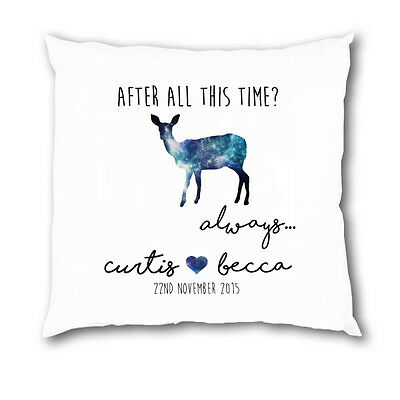 Personalised Harry Potter Always Couple Cushion COVER Wedding Christmas Gift