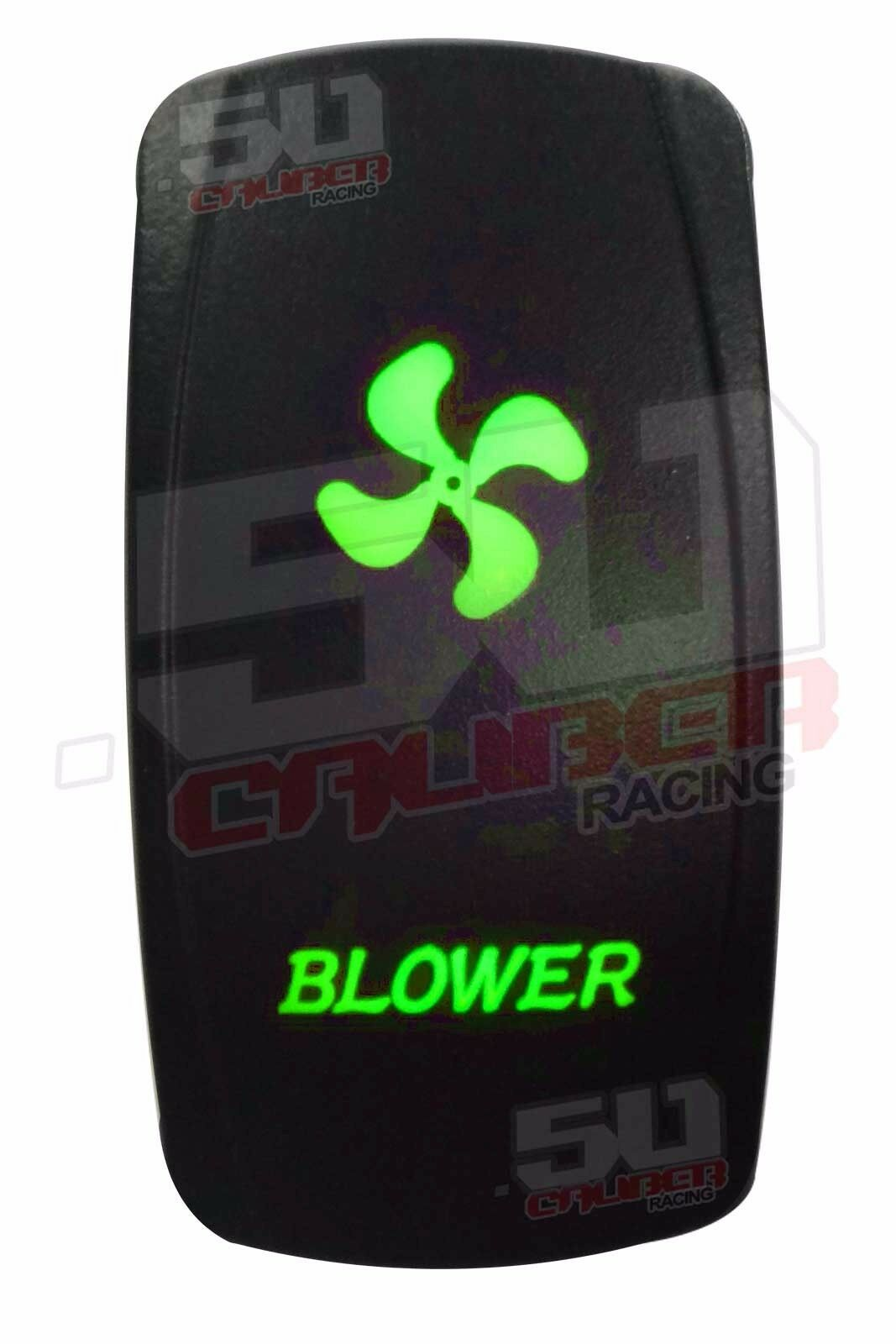 Custom Blower Rocker Switch Green for Ski Nautique Tige Sea Ray Fountain Cobra