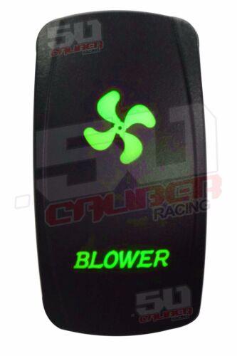 Custom Blower Rocker Switch Green fits Ski Nautique Tige Sea Ray Fountain Cobra